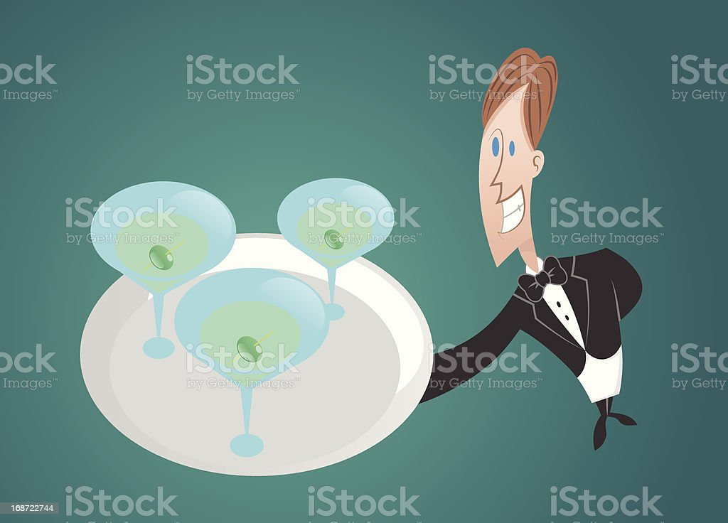 Drink service royalty-free stock vector art