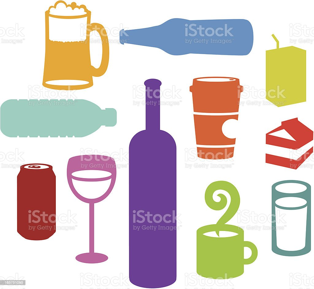 Drink Silhouettes royalty-free stock vector art