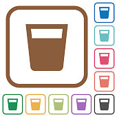 Drink simple icons