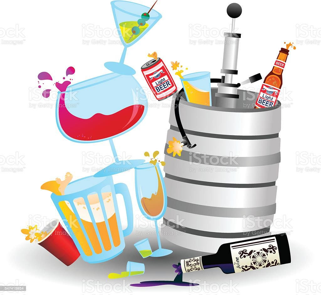 Drink Stack vector art illustration