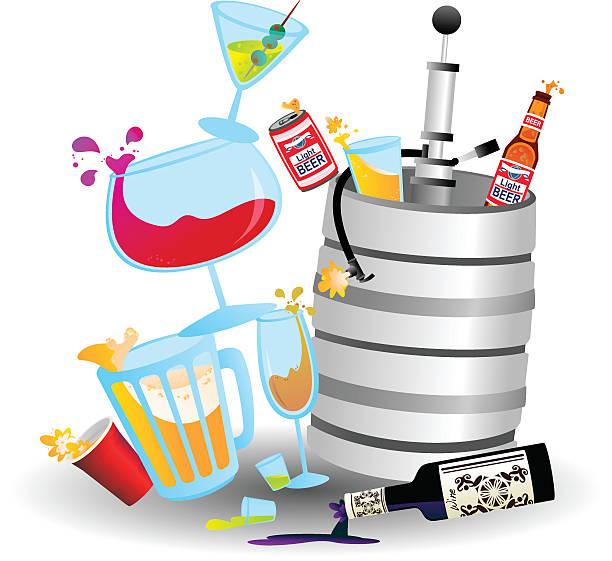 Drink Stack vector art illustration