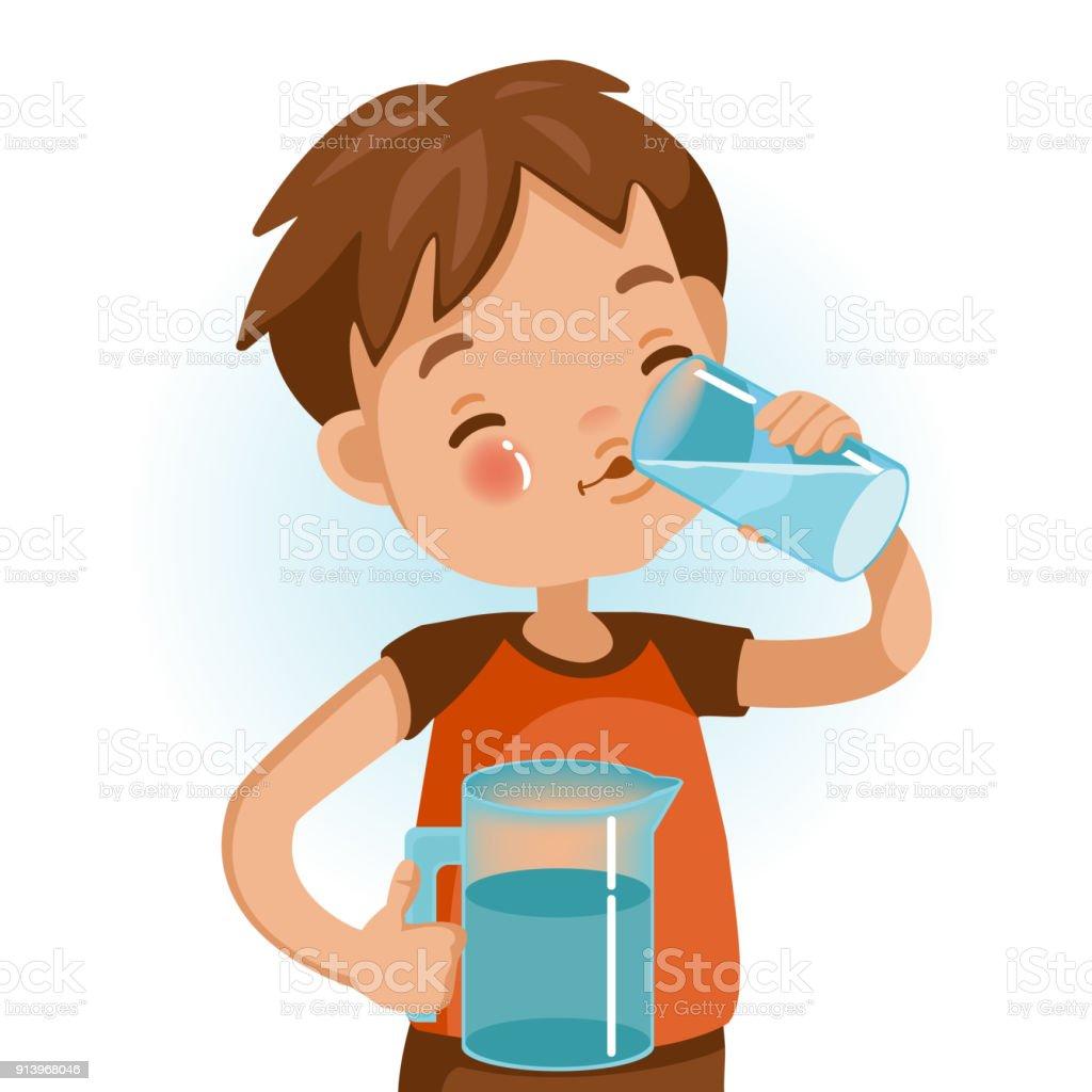 Drink Water vector art illustration