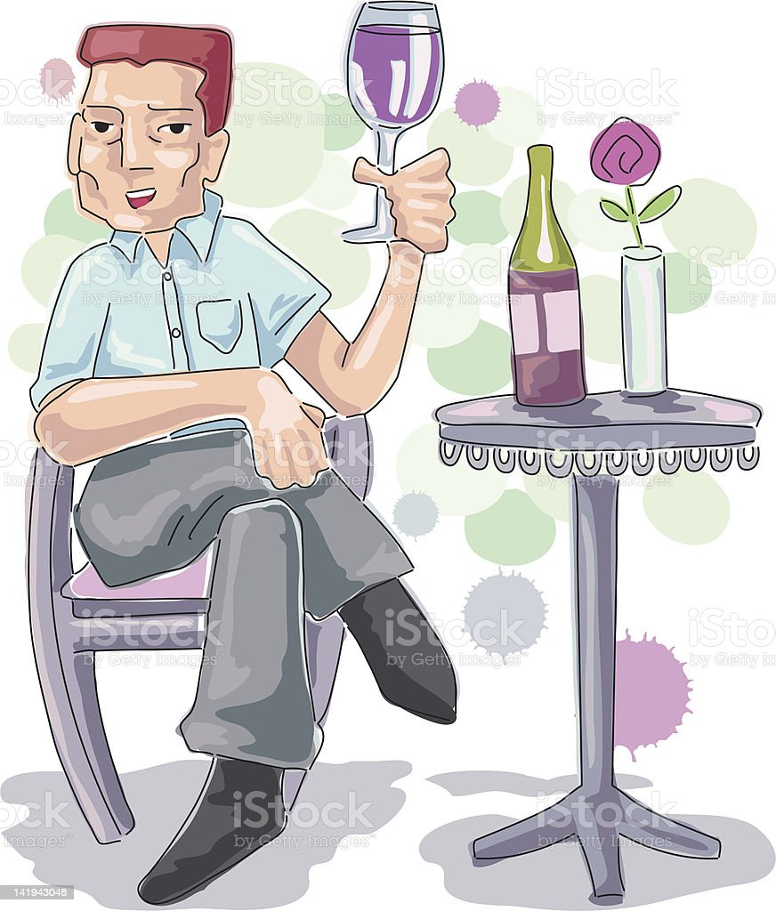 Drink wine day royalty-free stock vector art