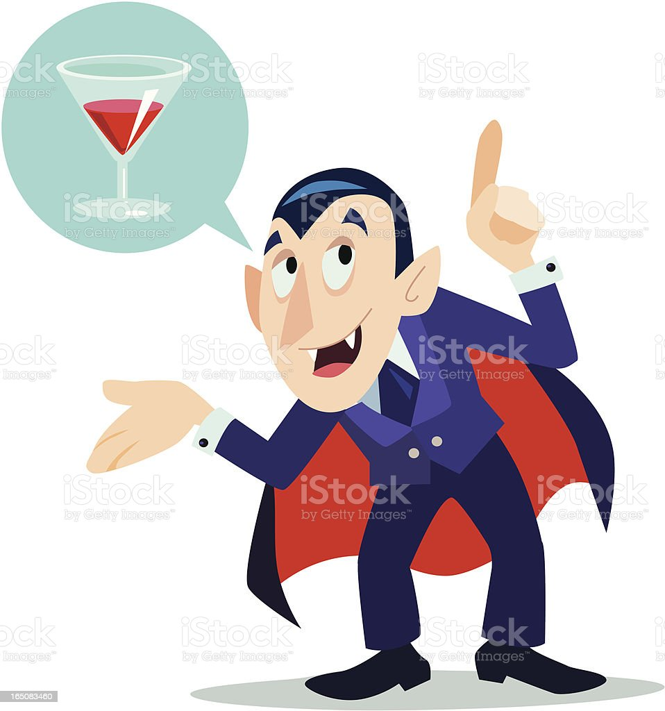 Drink with Drac vector art illustration