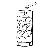 Vector Drawing of a drink.