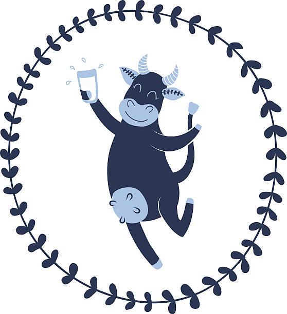 trinken rindsleder - lustige kuh bilder stock-grafiken, -clipart, -cartoons und -symbole