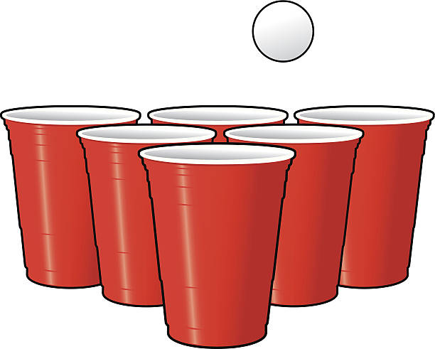 stockillustraties, clipart, cartoons en iconen met drinking games - beer pong - beirut