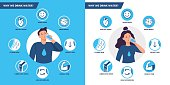 istock Drinking water benefits. Healthy human body hydration, man and woman drink water vector illustration set 1219489263