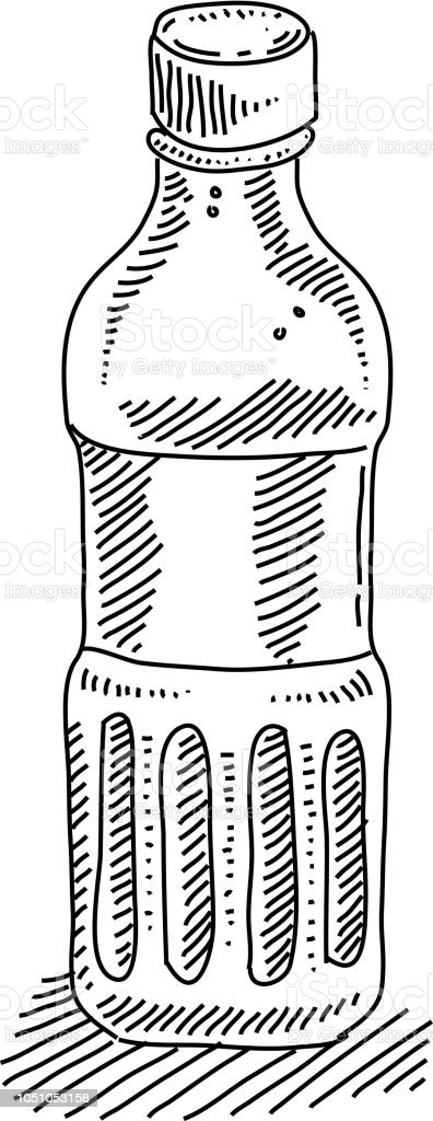 Drinking Water Bottle Drawing Stock Illustration Download Image Now Istock