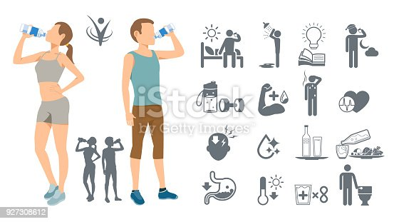 istock Drinking water to keep the body healthy. Simple self-awareness. Best drink of physical fitness. 927308612