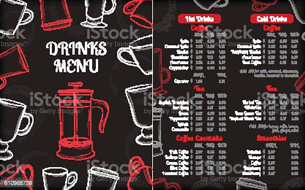 Drinks cafe menu brochure template with white hand drawn cups vector id610968726?b=1&k=6&m=610968726&s=612x612&h=svsmmvunaeonthwpvkhb2xu0napr69a26topek35784=