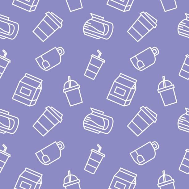 Bebidas alimentos fondo transparente de Vector - ilustración de arte vectorial
