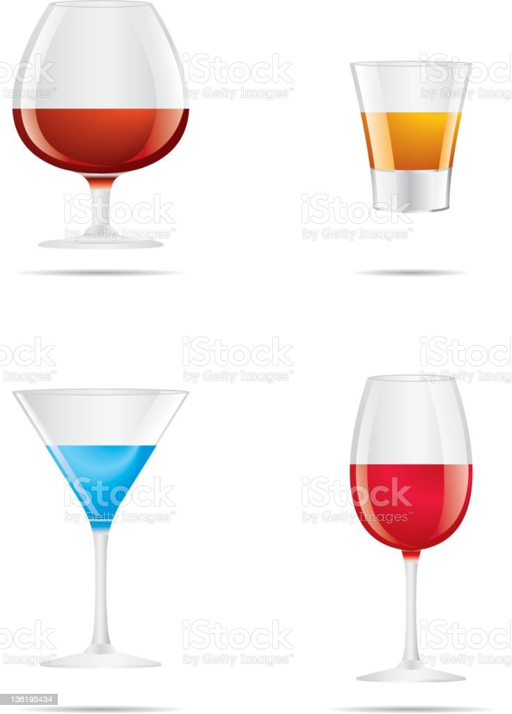 Drinks icon set royalty-free stock vector art