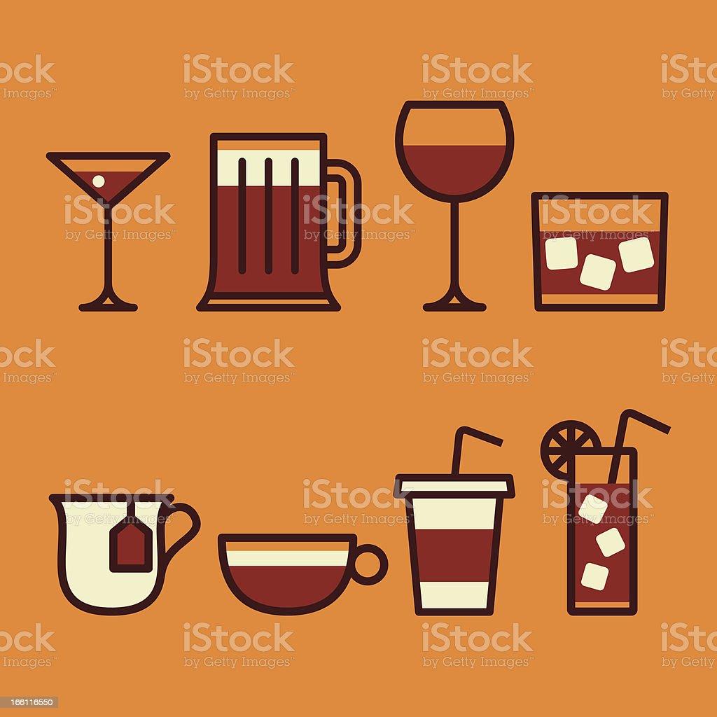 Drinks icon set royalty-free stock vector art