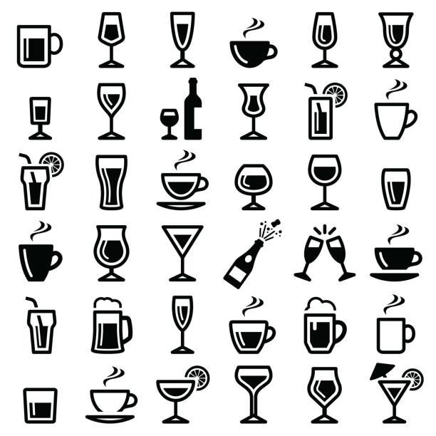 значок напитков - напиток stock illustrations