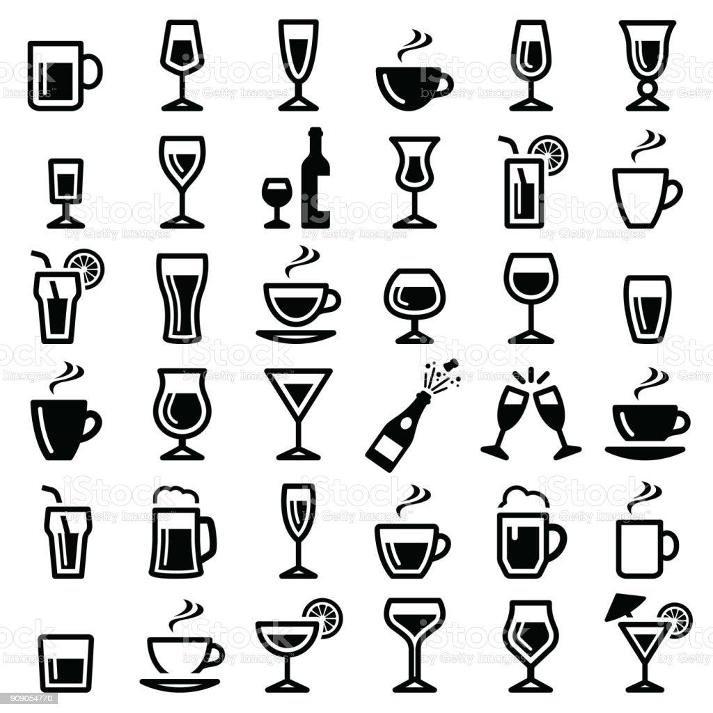 Icono de bebidas - ilustración de arte vectorial