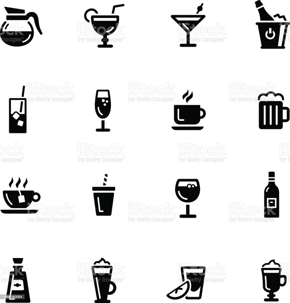 Drinks Icons // Black Series vector art illustration
