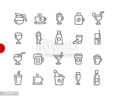 Drinks Icons // Red Point Series