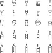 Drink, alcohol, icon, icon set, cocktail, beer.