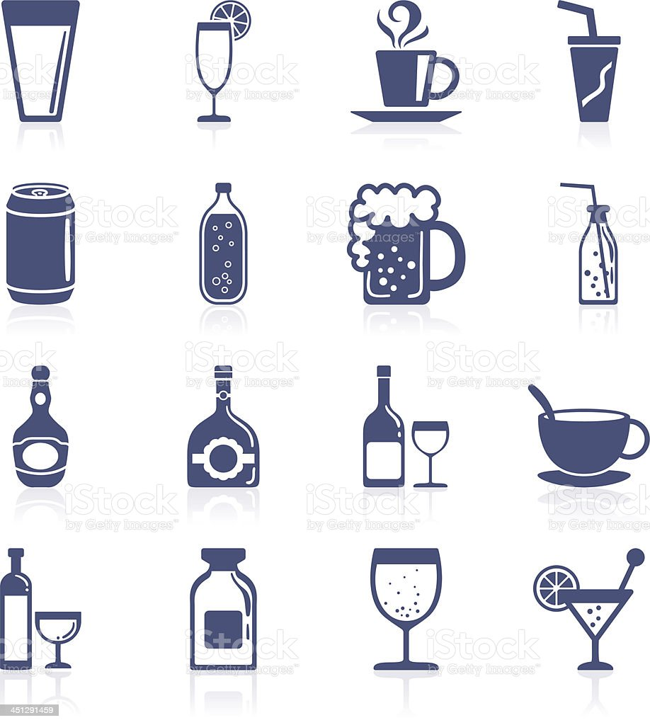 Drinks interface icon collection royalty-free stock vector art