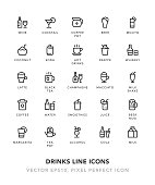 Drinks Line Icons