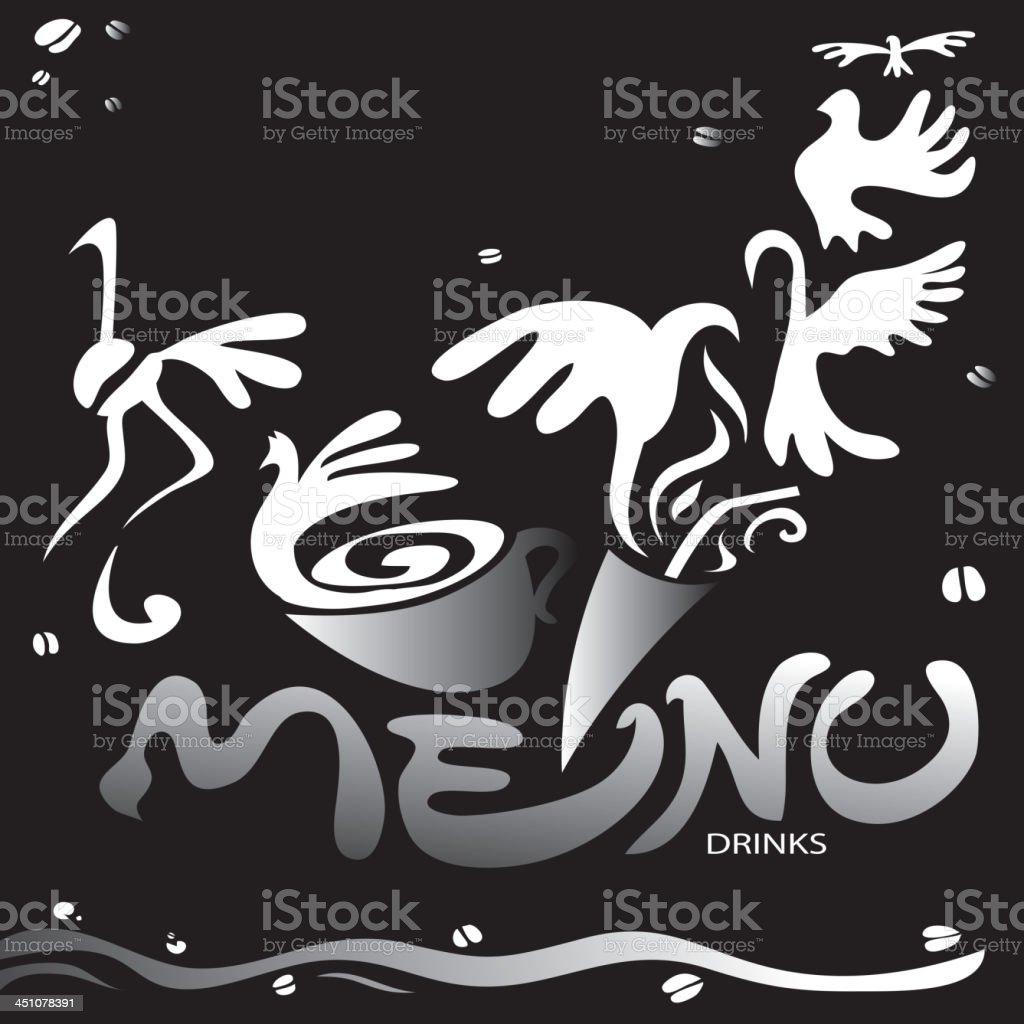 Drinks Menu royalty-free stock vector art