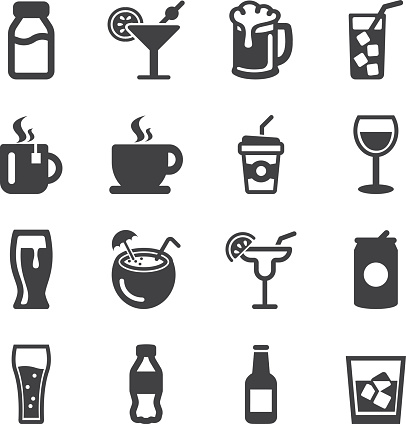 Drinks Silhouette icons | EPS10