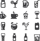 istock Drinks Silhouette icons | EPS10 618441258