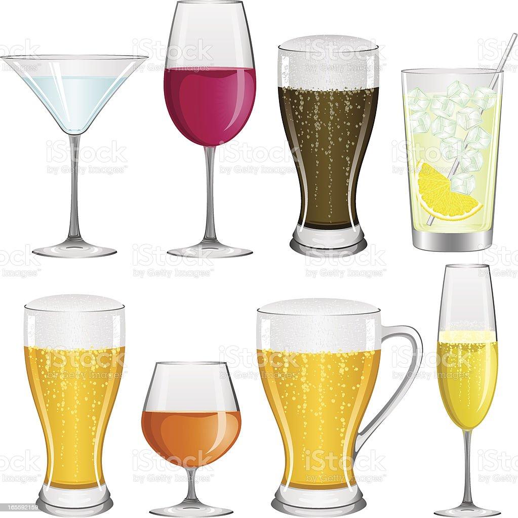 Drinks royalty-free stock vector art