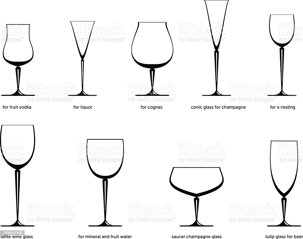 Drinkware vector art illustration