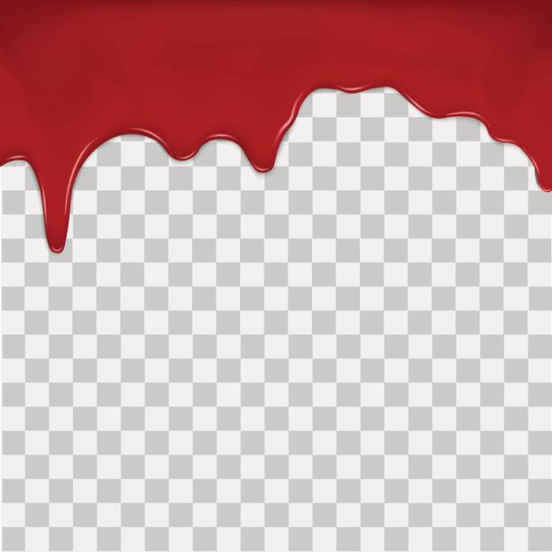 Dripping blood on transparent background. Vector. vector art illustration