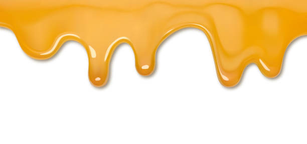 Dripping honey Dripping honey isolated caramel stock illustrations