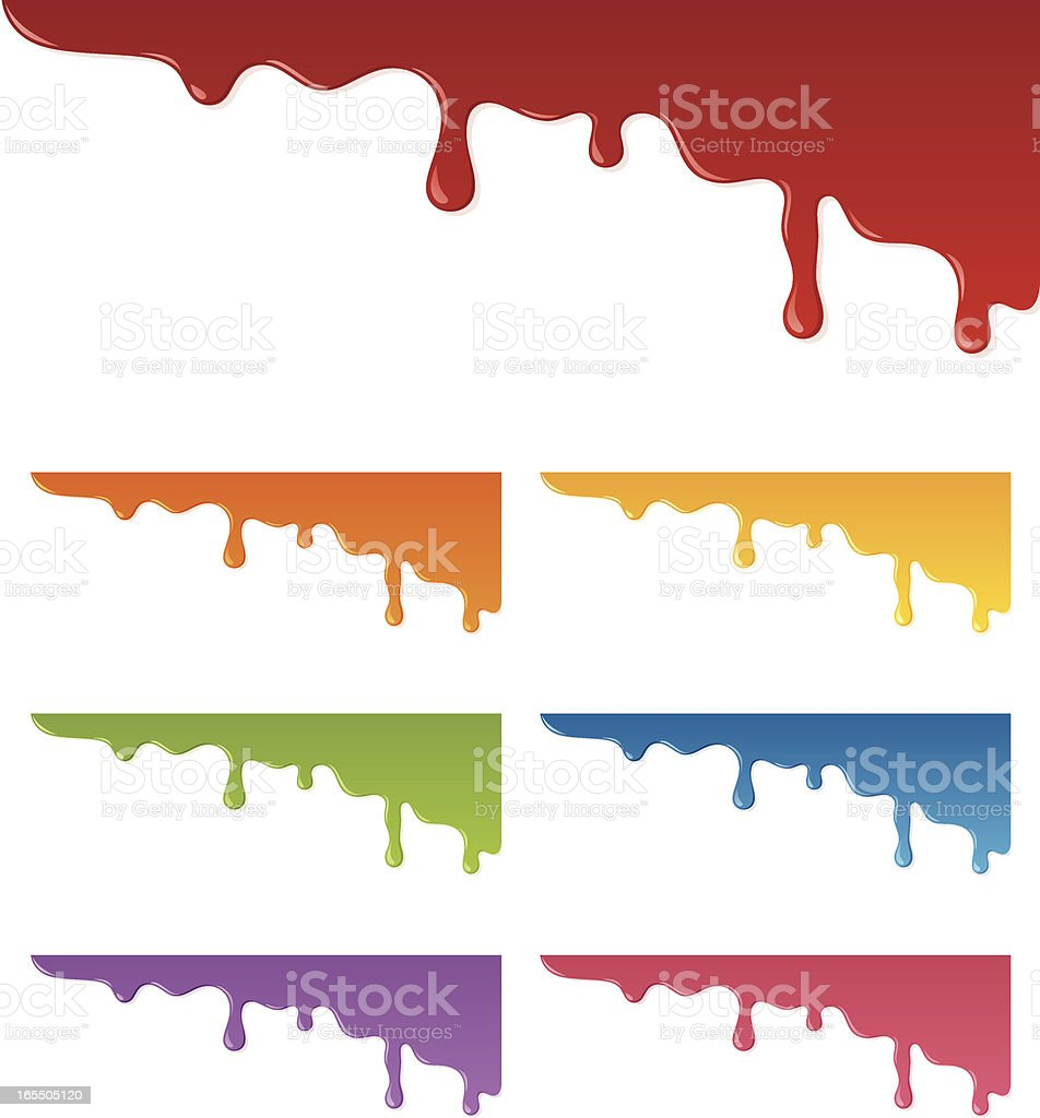 Dripping Paint - incl. jpeg vector art illustration