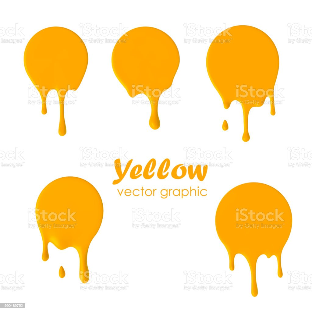 Dripping paint round icons. Current circle. Current yellow yolk logo. royalty-free dripping paint round icons current circle current yellow yolk logo stock illustration - download image now