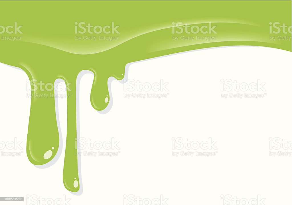 Dripping Slime vector art illustration