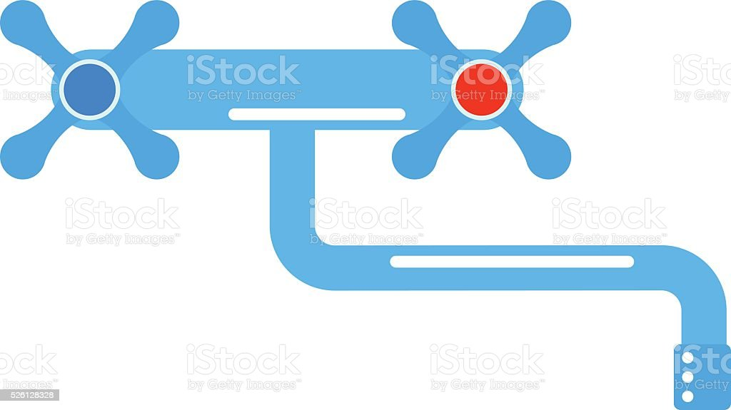 Dripping Tap Drop Water Faucet Vector Illustration Stock Vector Art ...