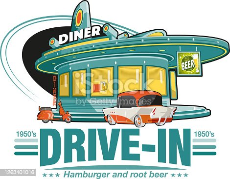 istock Drive in diner 1263401016