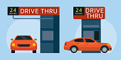 istock Drive Thru Fast Food Restaurant 1214281956