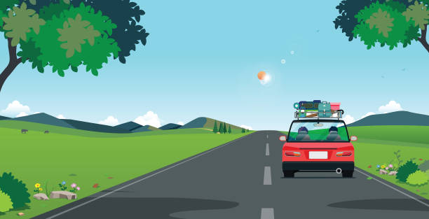 drive to travel - road trip stock illustrations