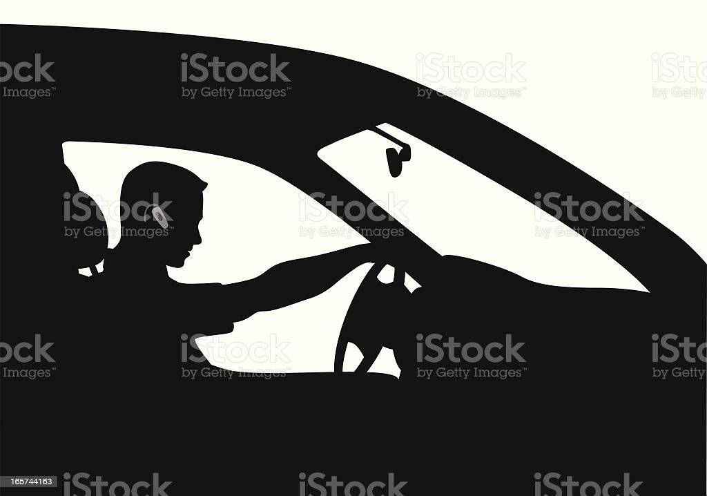 Driver Attention Vector Silhouette royalty-free driver attention vector silhouette stock vector art & more images of adult