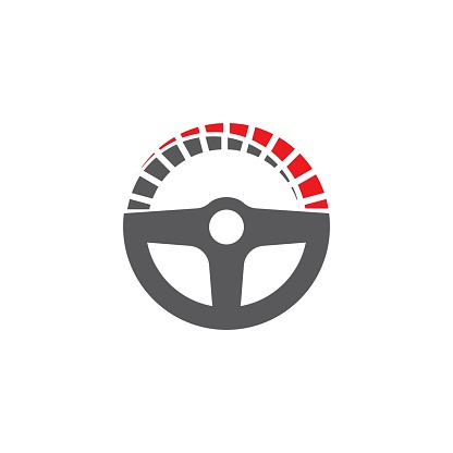 Driver icon Template vector illustration