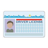 driver license card isolated