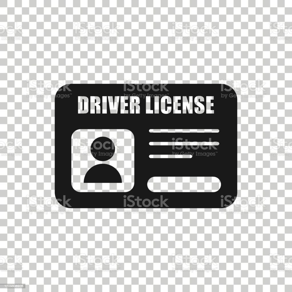 driver license icon in flat style id card vector illustration on white isolated background identity business concept stock illustration download image now istock https www istockphoto com vector driver license icon in flat style id card vector illustration on white isolated gm1209808928 350219092