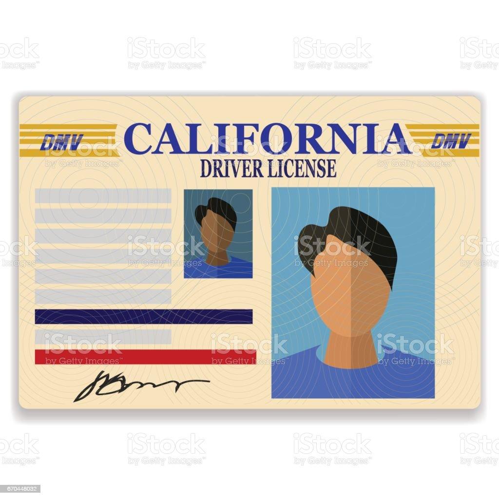 Icono de licencia de conductor - ilustración de arte vectorial