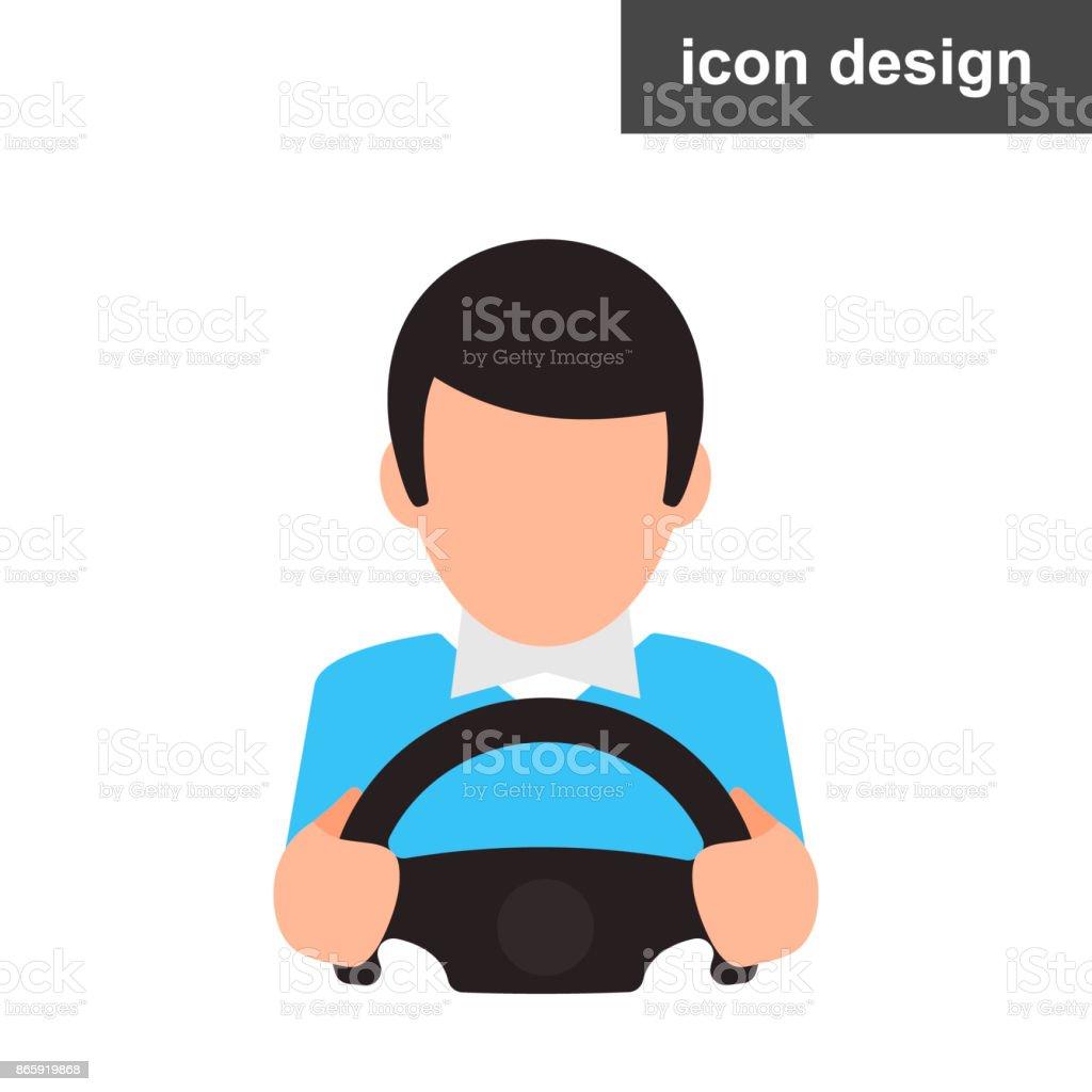 Icône du pilote homme - Illustration vectorielle