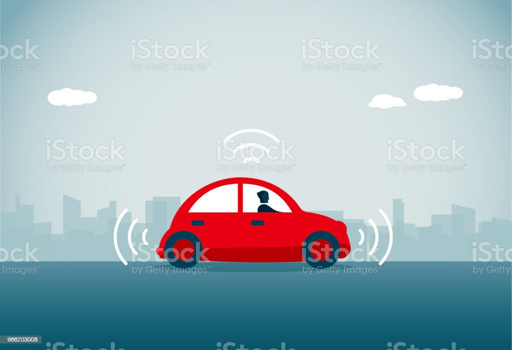 Voiture sans conducteur - Illustration vectorielle
