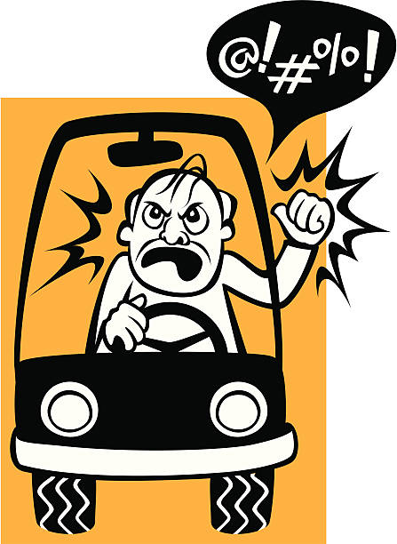 Drivers Beware! vector art illustration