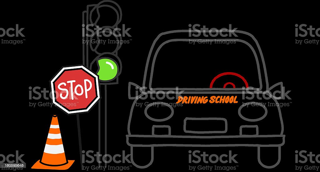 driving school royalty-free stock vector art