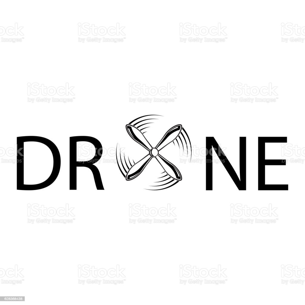 Drone Abstract Text Royalty Free Stock Vector Art