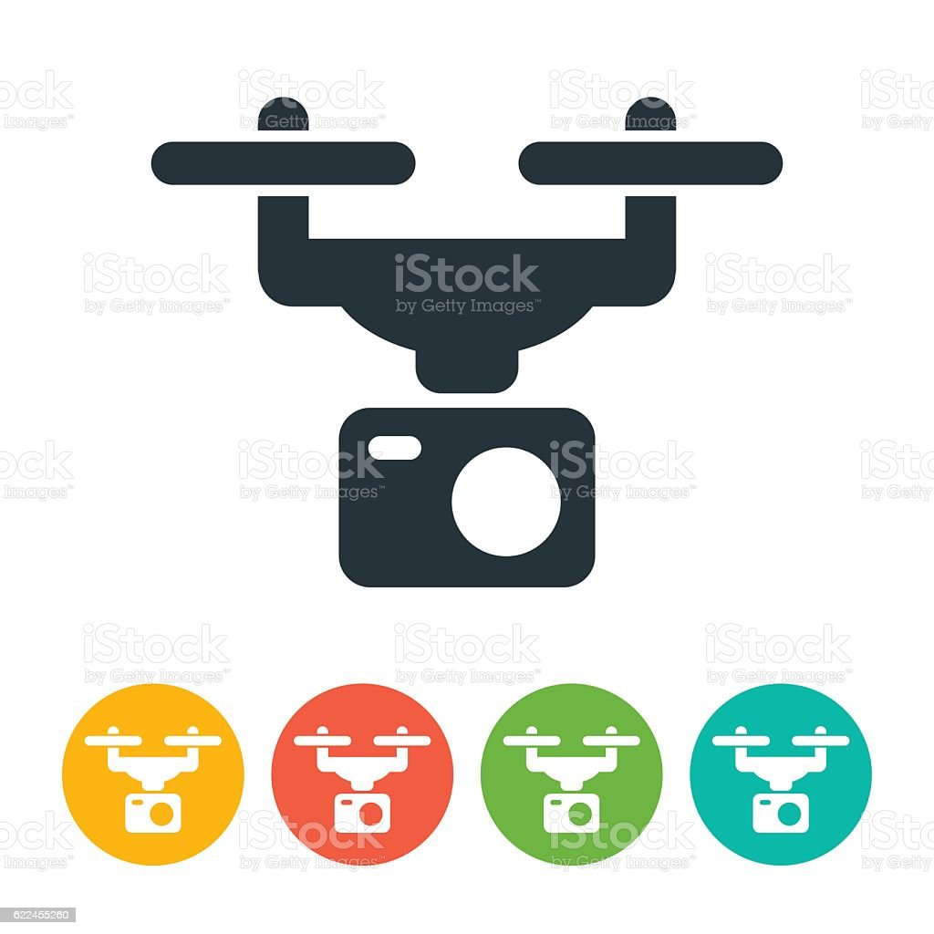 Drone And Camera Icon Royalty Free Stock Vector Art